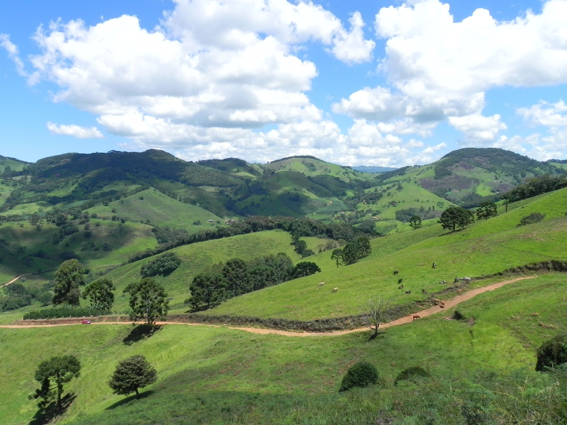 Vista da área rural de Gonçalves. Foto: Prefeitura Municipal de Gonçalves.