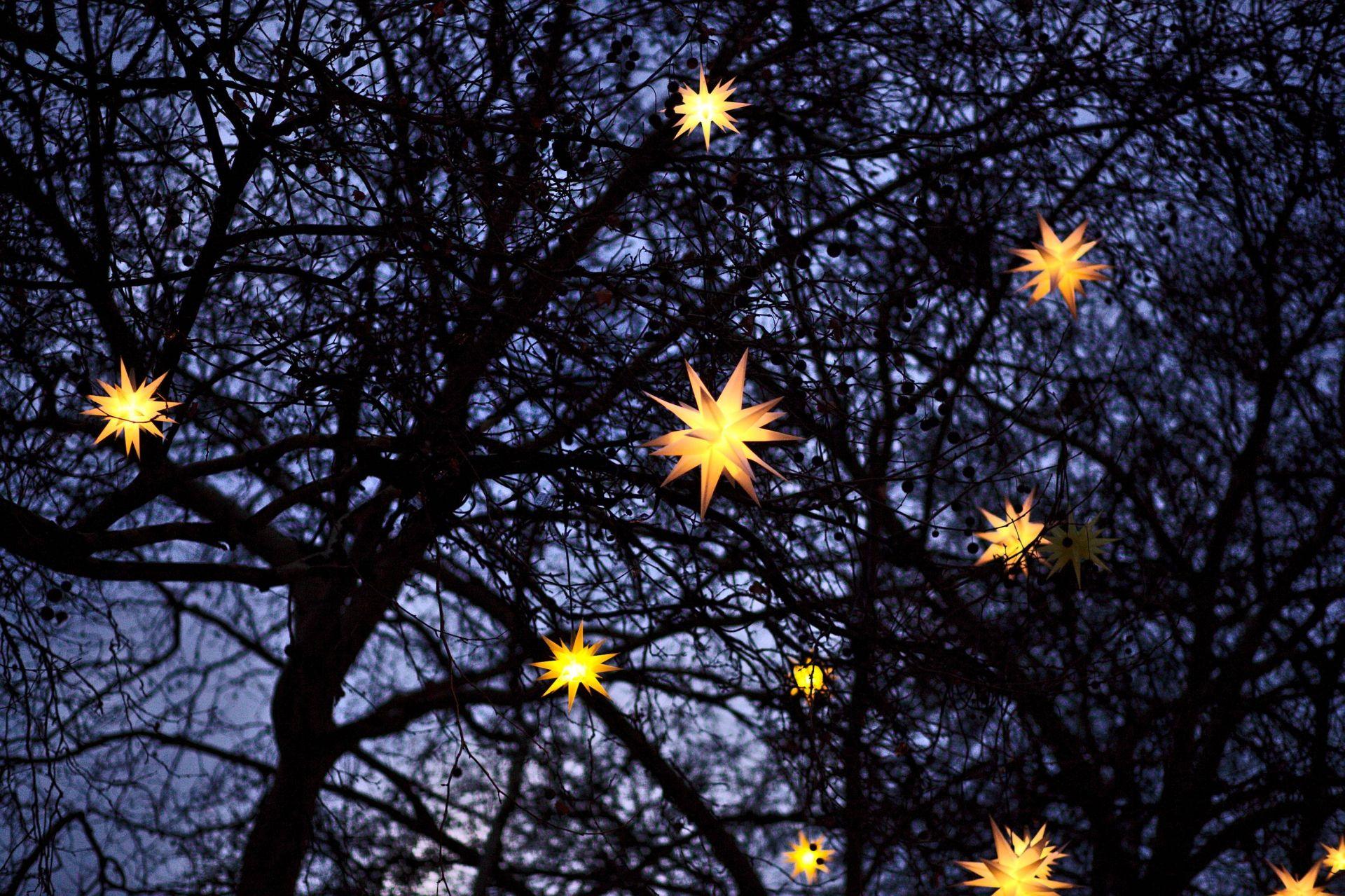 Na China, a decoração de Natal leva luminárias de papael. Foto: Filip Bunkens/Unsplash