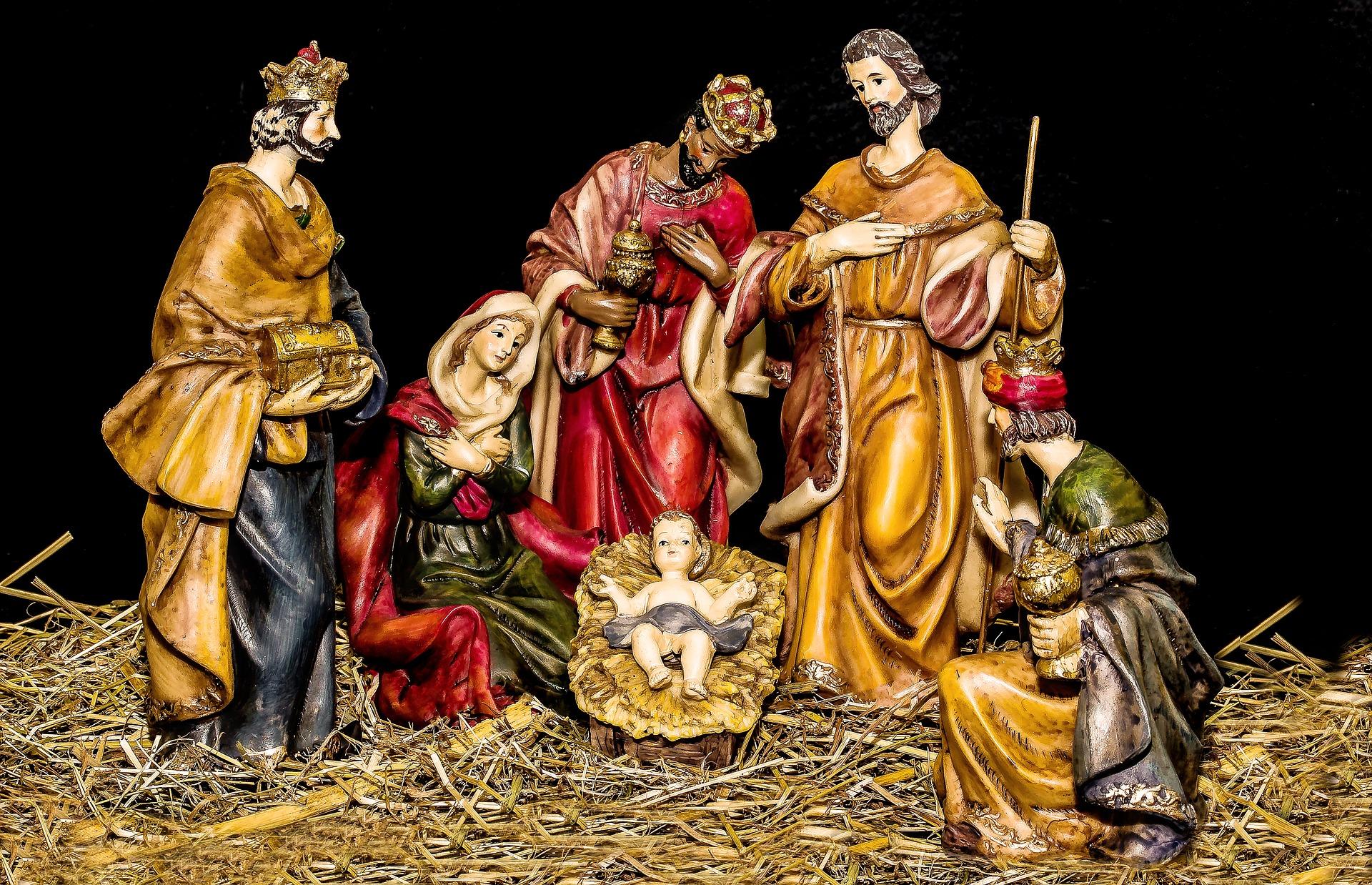 Os presépios foram os primeiros ícones a serem introduzidos nas comemorações natalinas do Brasil. Foto: Pixabay.