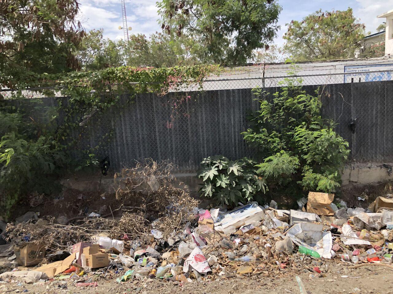 Imagem flagrada pelo médico durante visita ao Haiti mostra lixo espalhado pelas ruas da capital Porto Príncipe (Foto: Arquivo pessoal)
