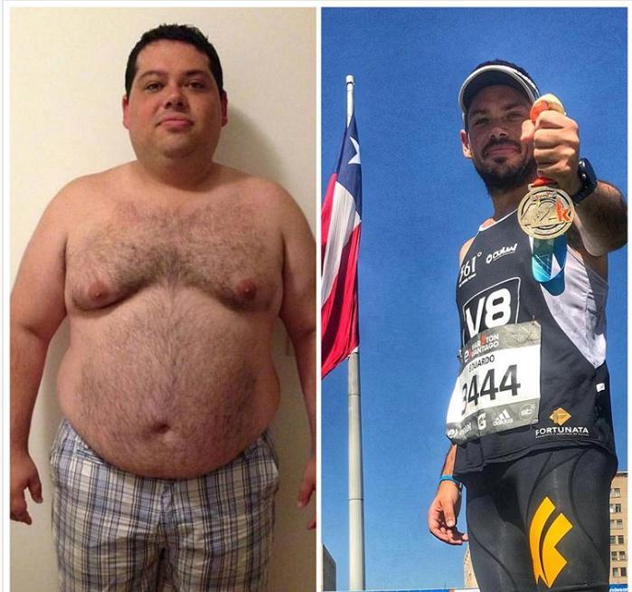 O consultor Eduardo Trombini chegou a pesar 132 quilos antes de realizar a cirurgia que mudou sua vida. Foto: Reprodução/ Instagram