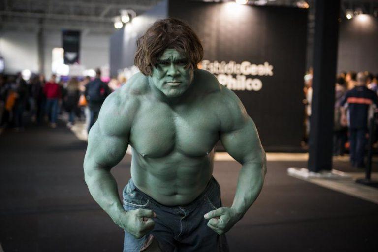 """Na Geek City Curitiba 2017,  o """"Hulk curitibano"""" Sidnei Ribas. Foto: divulgação."""