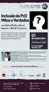 Trio de pessoas com deficiência promove oficina sobre inclusão inédita em Curitiba