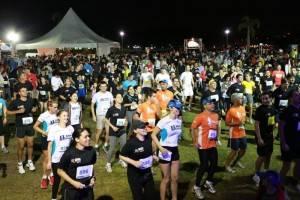 Revezamento de atletas no Barigui