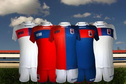 As novas camisas do Paraná ganharão um patrocínio para os jogos contra Palmeiras e Sport. (Foto: Reprodução)