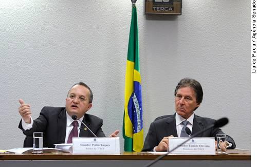 Senadores divulgam relatório sobre o projeto do novo Código Penal. (foto: Agência Senado)