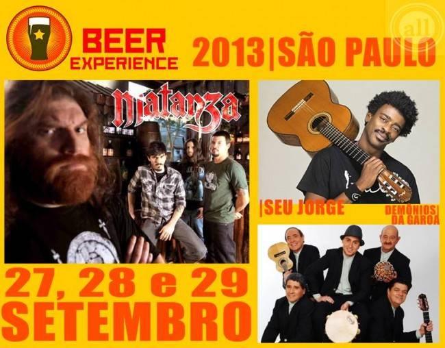 Programação musical do Beer Experience 2013 inclui Seu Jorge, Matanza e Demônios da Garoa