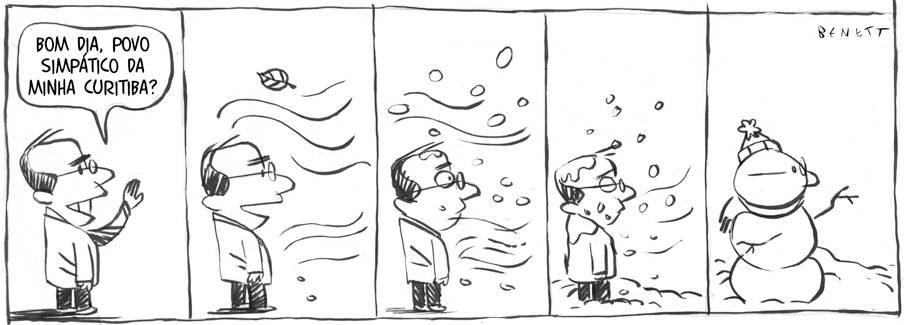 Tira publicada na edição de hoje da Gazeta do Povo