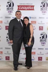O novíssimo restaurante Attimo, do Marcelo Fernandes, em São Paulo, também entrou na 50 Best. Na foto: Jefferson Rueda e Janaína