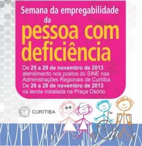 Ação organizada pela SEDPCD de Curitiba visa incluir profissionais com deficiência no mercado de trabalho.