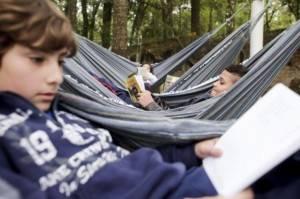 Redário em escola na CIC estimula o prazer da aprendizagem