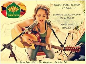 Carol Oliveira apresenta um acústico no Balarama (Divulgação)