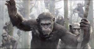 """Cena do filme """"Dawn of the Planet of the Apes""""."""