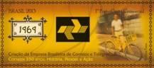 Selo comemorativo aos 350 anos dos Correios: bicicleta é parte dessa história. (Reprodução/ECT)