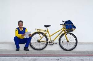Cerca de 8 mil carteiros usam a bicicleta em todo o Brasil. (Foto: Felipe Baenninger/Projeto Transite)