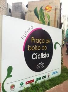 A praça é nossa: local servirá de ponto de convivência para os ciclistas de Curitiba. (Foto: ACN/Ir e Vir de Bike)