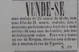 Venda de escravos no século XIX.