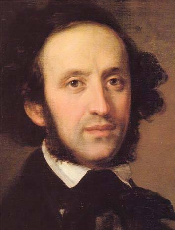 O compositor Felix Mendelssohn, autor de muitas obras primas compostas com pouca idade