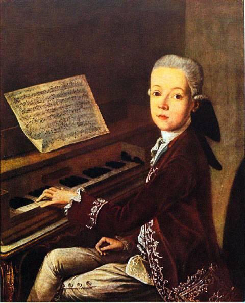 O jovem Mozart. A imagem mais famosa de um gênio musical precoce
