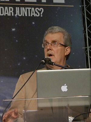 Karl Giberson deu duas palestras no evento ocorrido em São Paulo, no início de maio.