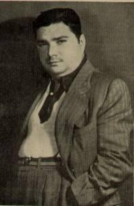 Guerra Peixe em foto publicada em 1948 no Boletim <i>A voz de Londres</i> da BBC