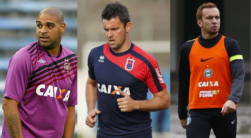 Adriano, Gincarlo e Zé Love: quem foi a grande decepção do futebol paranaense em 2014? (Arquivo Gazeta do Povo)