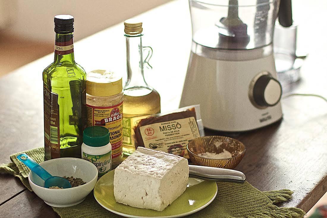 Ingredientes para o tofufort. Foto: Carlos Felipe Urquizar Rojas/Arquivo pessoal