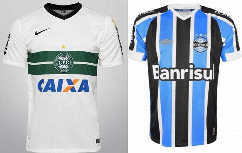 O modelo a ser lançado pela Nike em fevereiro combina o desenho do uniforme 1 do Coritiba com o azul e o preto do Grêmio.