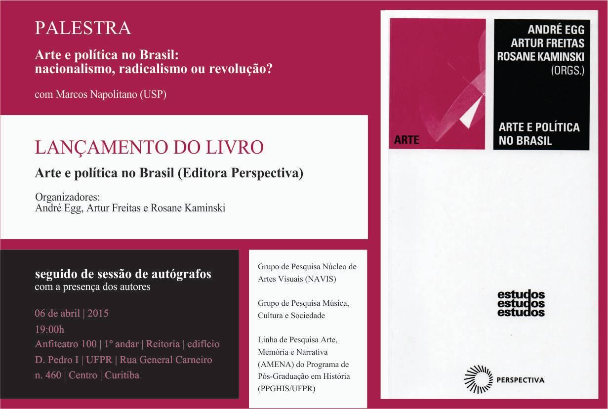 flyer da palestra e do lançamento do livro