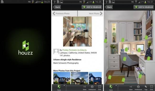 Aplicativo Houzz Interior Design Ideas. / Crédito: Divulgação