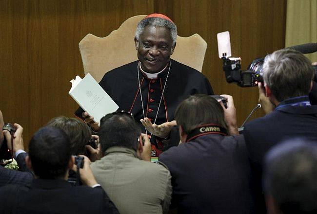 O cardeal Peter Turkson, de Gana, presidente do Pontifício Conselho Justiça e Paz