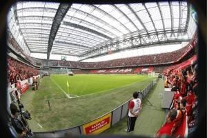 Arena: medida padrão Fifa. (Daniel Castellano/ Gazeta do Povo)