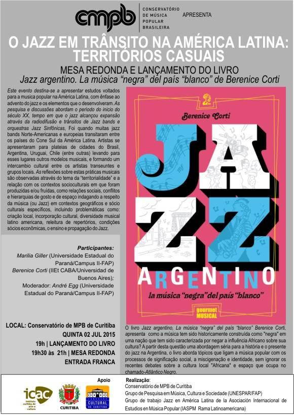 Jazz em trânsito na América Latina - divulgação do evento