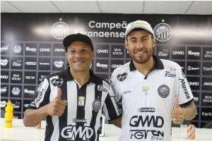 Danilo Baia e Marcos Paraná, da Vila Capanema para a Vila Oficinas. (Divulgação/ Operário)