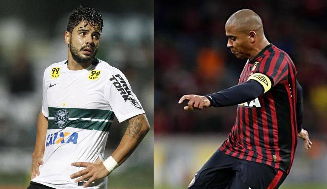 Henrique Almeida e Walter emplacaram na dupla Atletiba. (Gazeta do Povo)