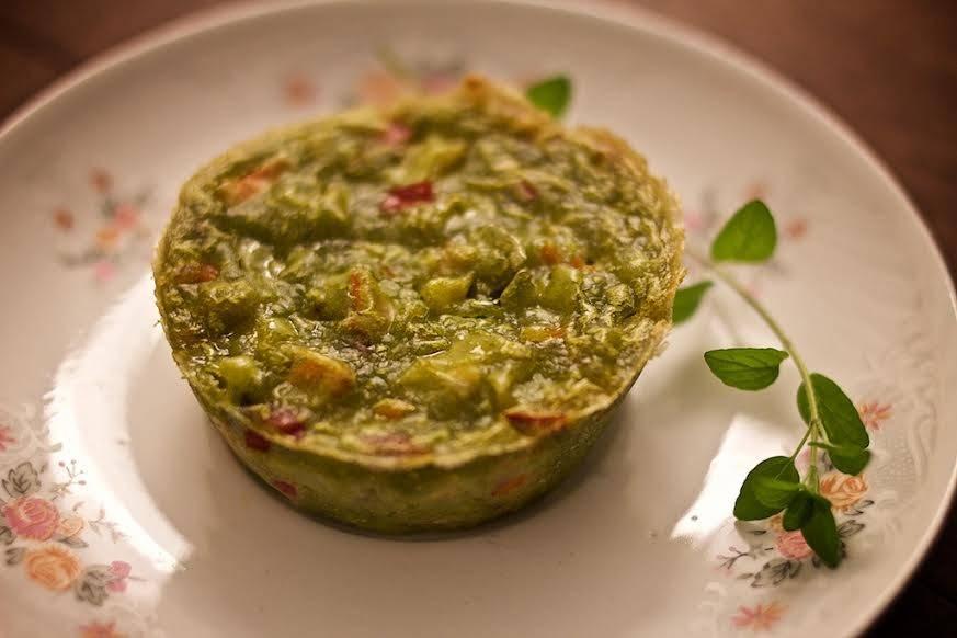 Tortinha verde de legumes, um clássico da minha família. Foto: Apneia Filmes/Divulgação.