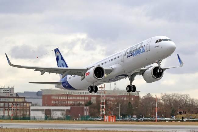 Primeira decolagem do Airbus A321neo (Foto: Divulgação/Airbus)