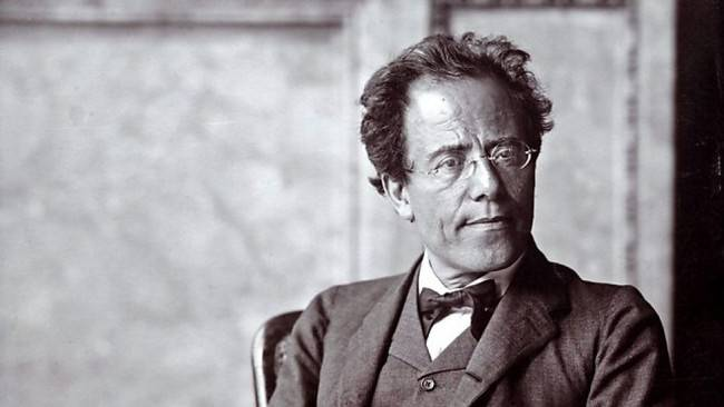 Mahler, na época em que regeu a estreia de
