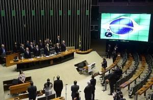 Sessão solene em homenagem aos 50 anos do PMDB. Foto: Gustavo Lima/Câmara dos Deputados.