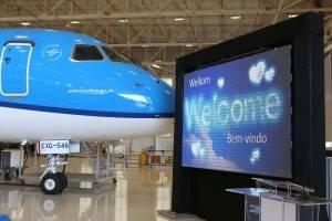 KLM começou a operar o Embraer E175 em 2016 (Foto: Divulgação/KLM)