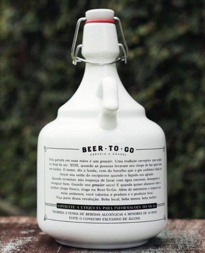 Growler da Beer-to-go. Foto: Divulgação