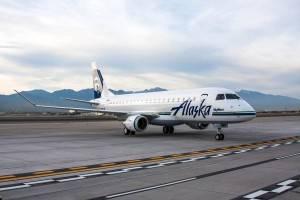 Embraer E175 já voa com as cores da Alaska Airlines, operada pela Skywest (Foto: Divulgação/Alaska Air Group)