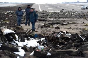 Queda de Boeing 737-800 da FlyDubai matou 62 pessoas na Rússia (Foto: Vasily Maximov/AFP)
