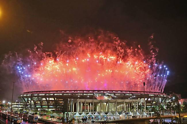 Cobertura Olimpíada Rio 2016 - ENCERRAMENTO DA OLIMPÍADA - Olimpíadas do Rio de Janeiro 2016, no Brasil. Encerramento da Olimpíada Rio 2016 no estádio Maracanã no Rio de Janeiro