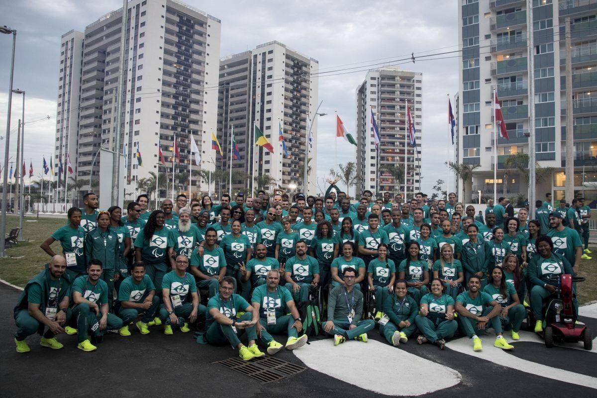 Parte da delegação brasileira que participou da Rio-2016. (Foto: Daniel Zappe/CPB)
