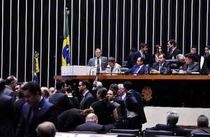 Sessão foi aberta às 19 horas, mas já interrompida cerca de 15 minutos depois. Foto: Luis Macedo/Câmara dos Deputados