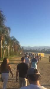 Chegada ao festival