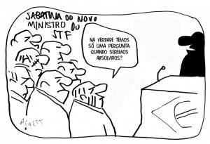 Charge Alexandre Moraes, possível novo ministro do STF