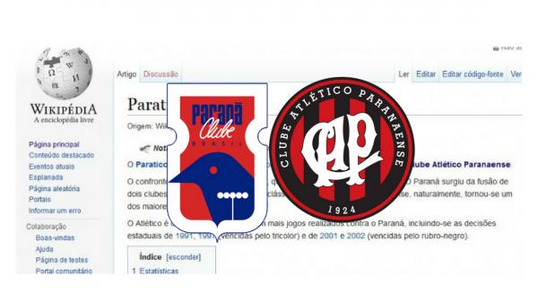 Clássico Paraná Clube x Atlético-PR para o Wikipédia.
