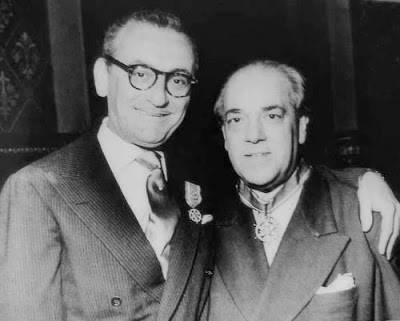Villa-Lobos e Ary Barroso em 1958